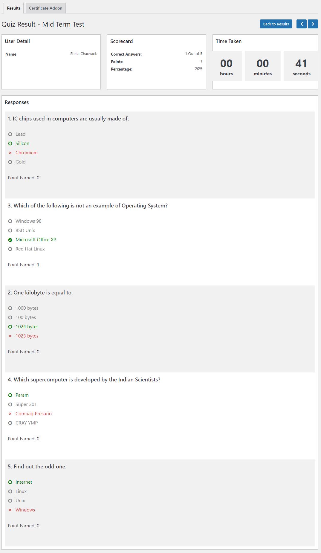 QSM - Gradebook Addon - Quiz Results - Updated 2021