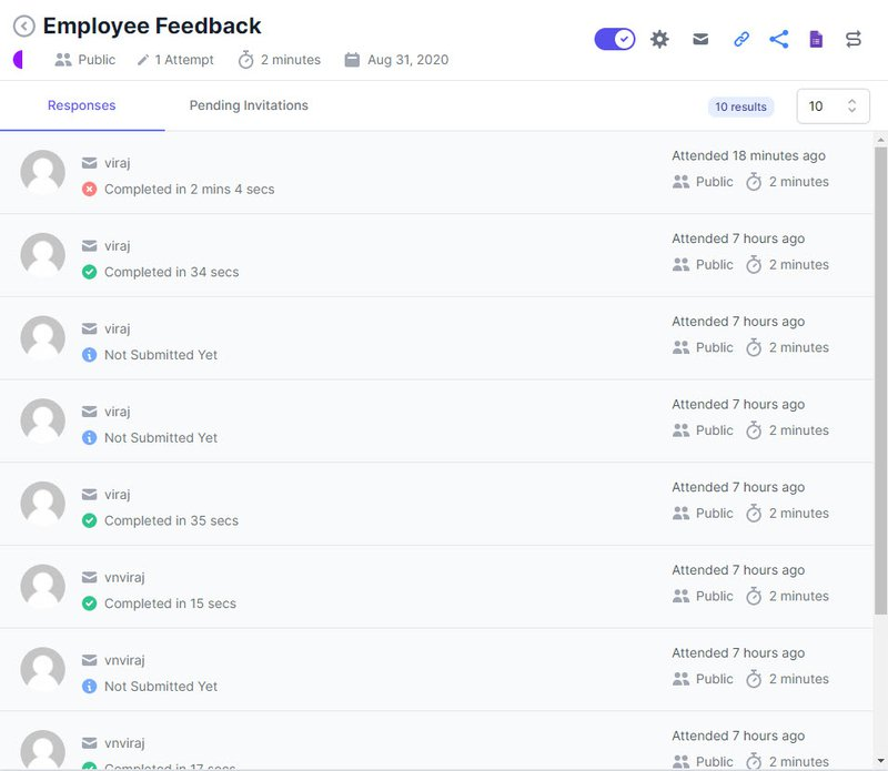 Extended forms - Employee Feedback form