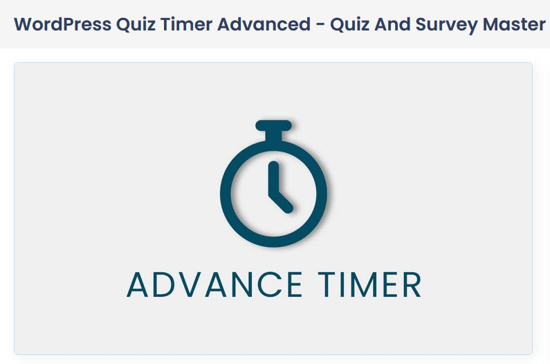 Timer on Individual Quiz Pages - QSM Advanced Timer