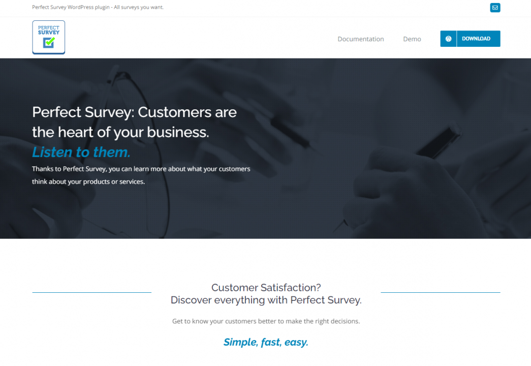 Best WordPress Questionnaire Plugin - Perfect Survey