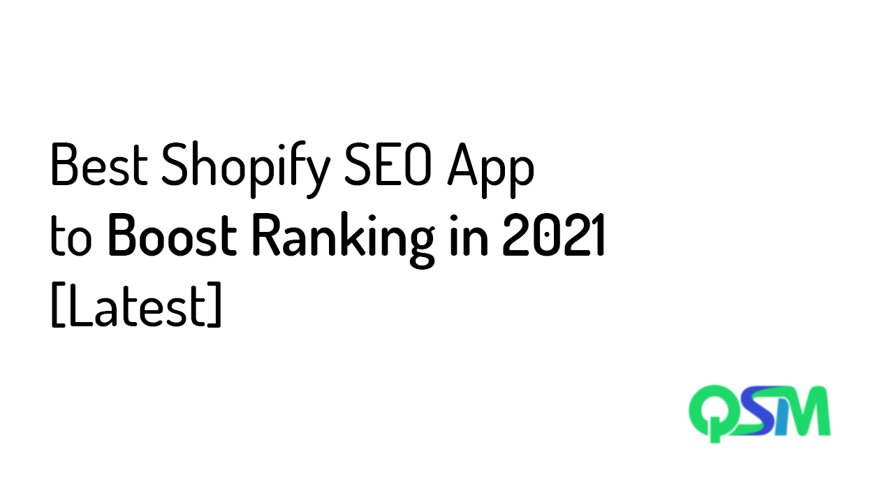Best Shopify SEO App to Boost Ranking in 2021 [Latest] - Banner