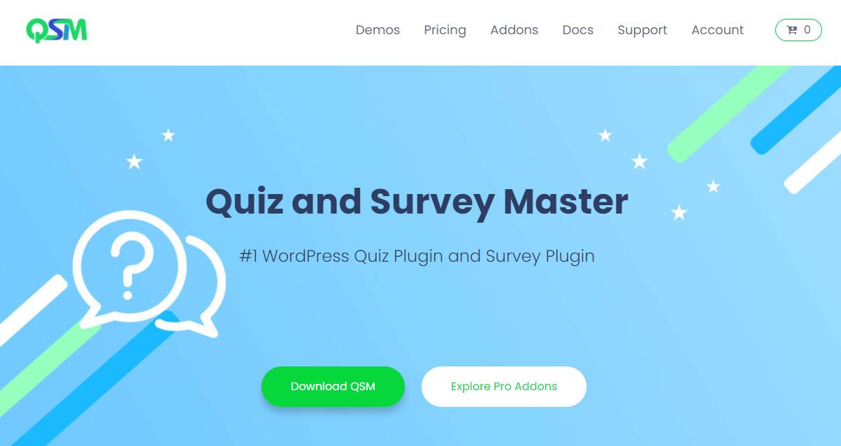 Quiz and Survey Master - MailChimp Integration - QSM Banner