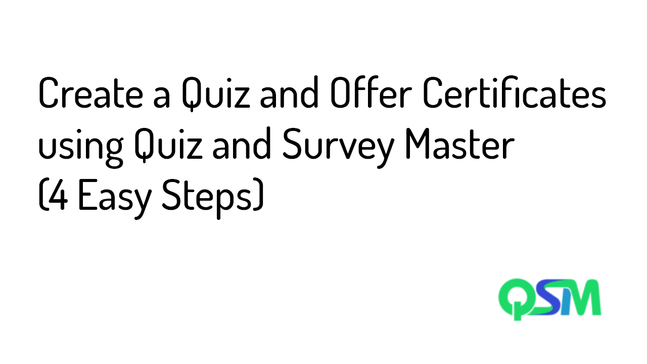Create a Quiz Using WordPress Quiz Plugin and Offer Certificates (4 Easy Steps) - Banner