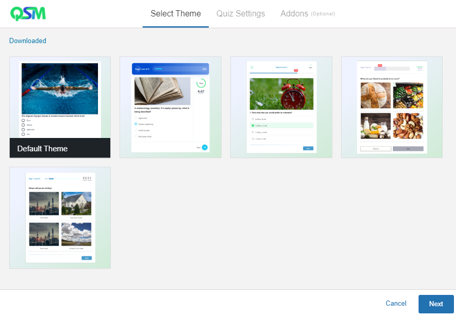 How to use the New Themes Feature - Wizard - QSM Themes