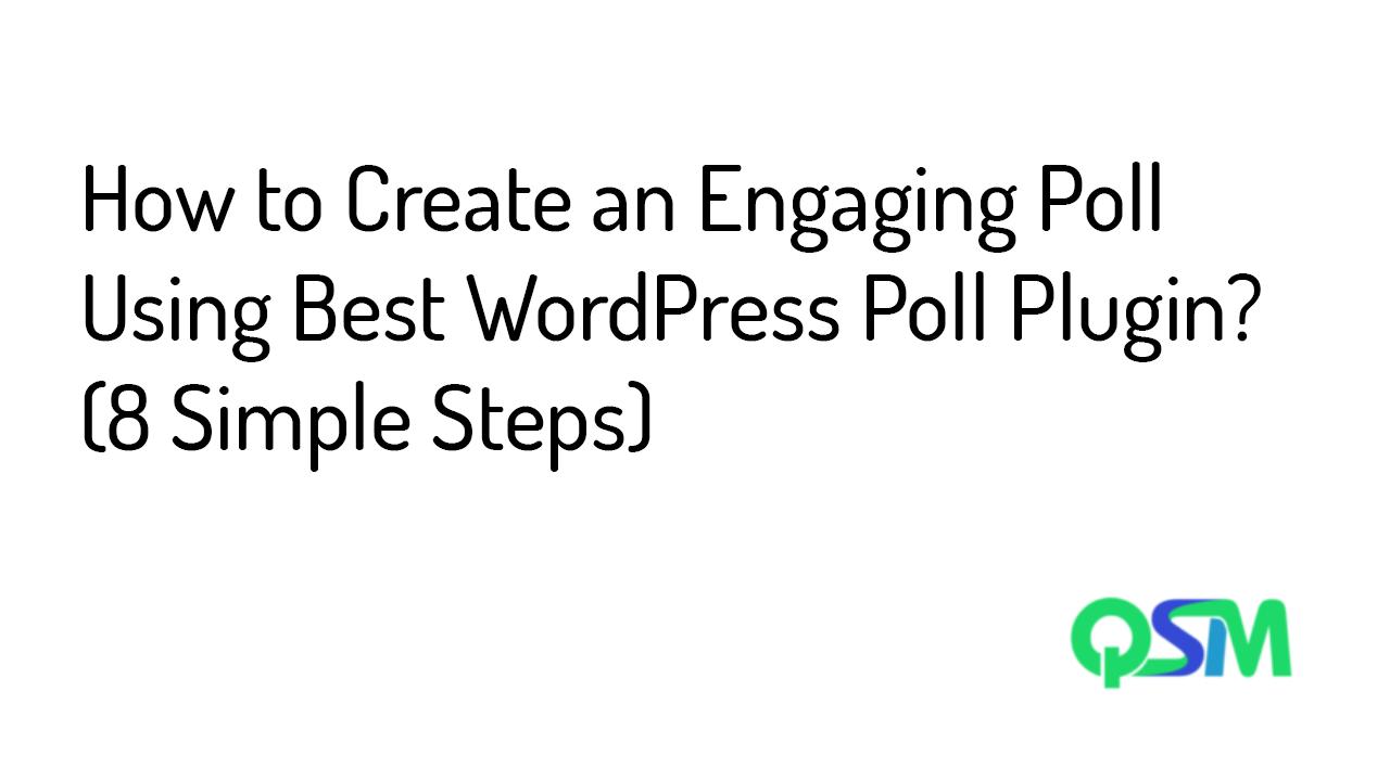 Best WordPress poll plugin- template