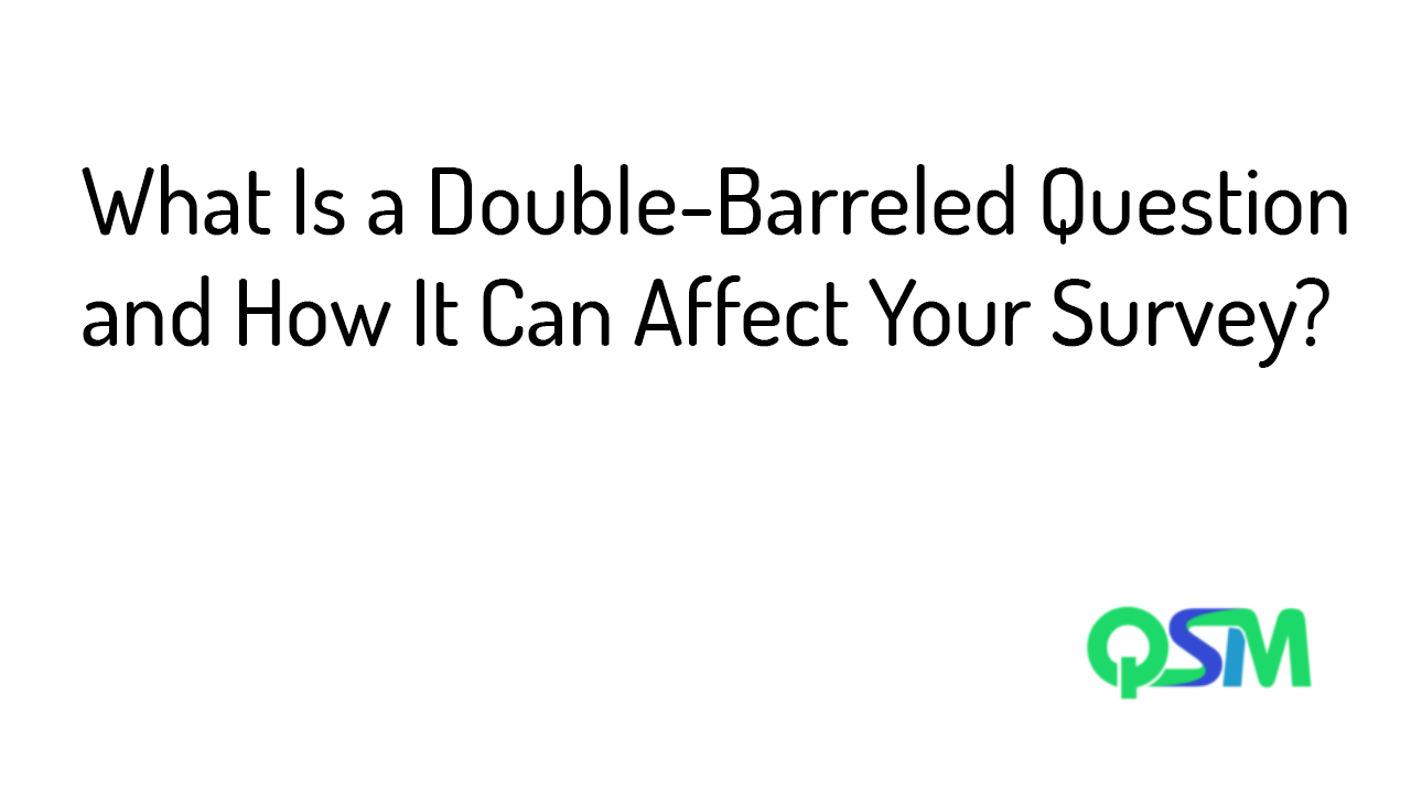 Double-barreled question - template