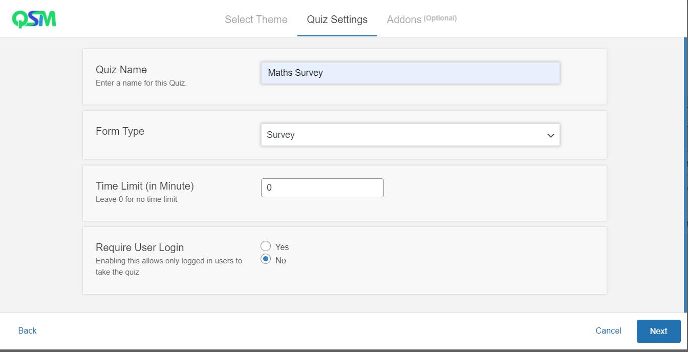 Embed a Survey - Create a new survey