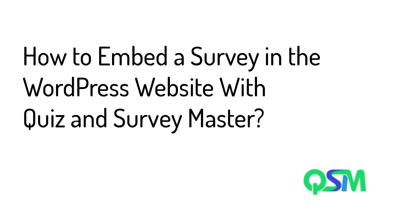 Embed a Survey - Template