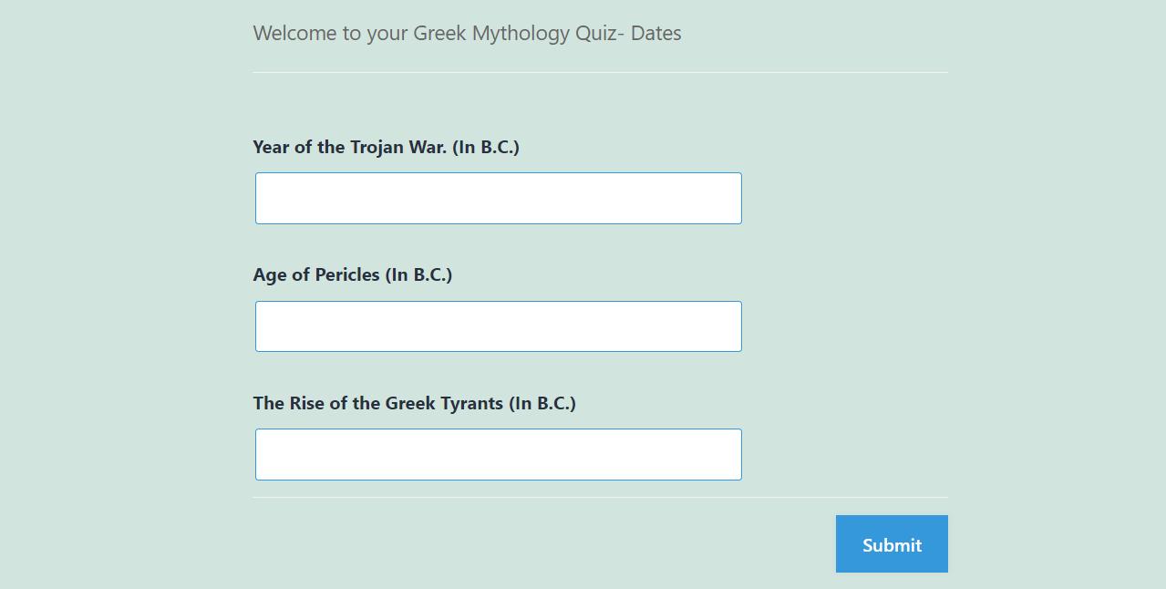 Greek Mythology Quiz - Output of Number