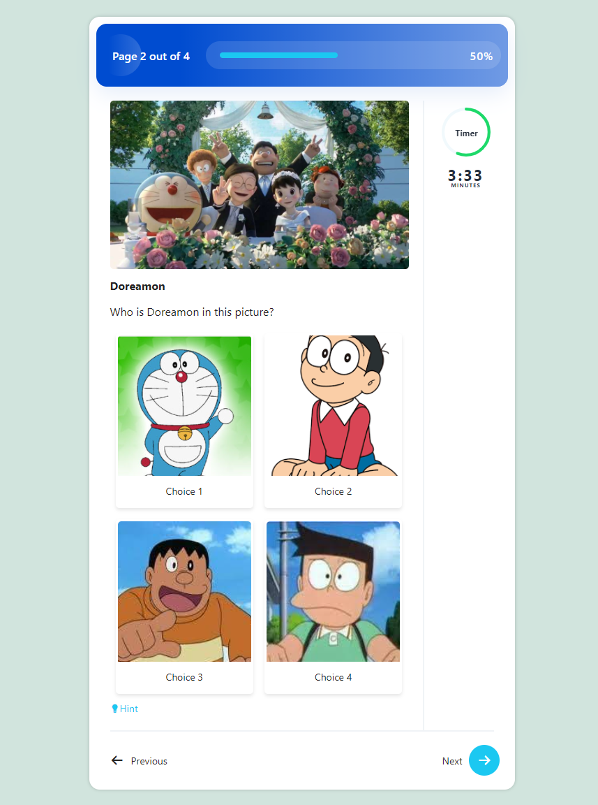 How to Create a Cartoon Characters Picture Quiz on a WordPress Website - Quiz in Action