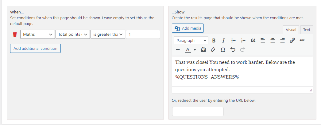 QSM Multiple Category Support -Set Conditions based on Categories in Emails and Results Pages