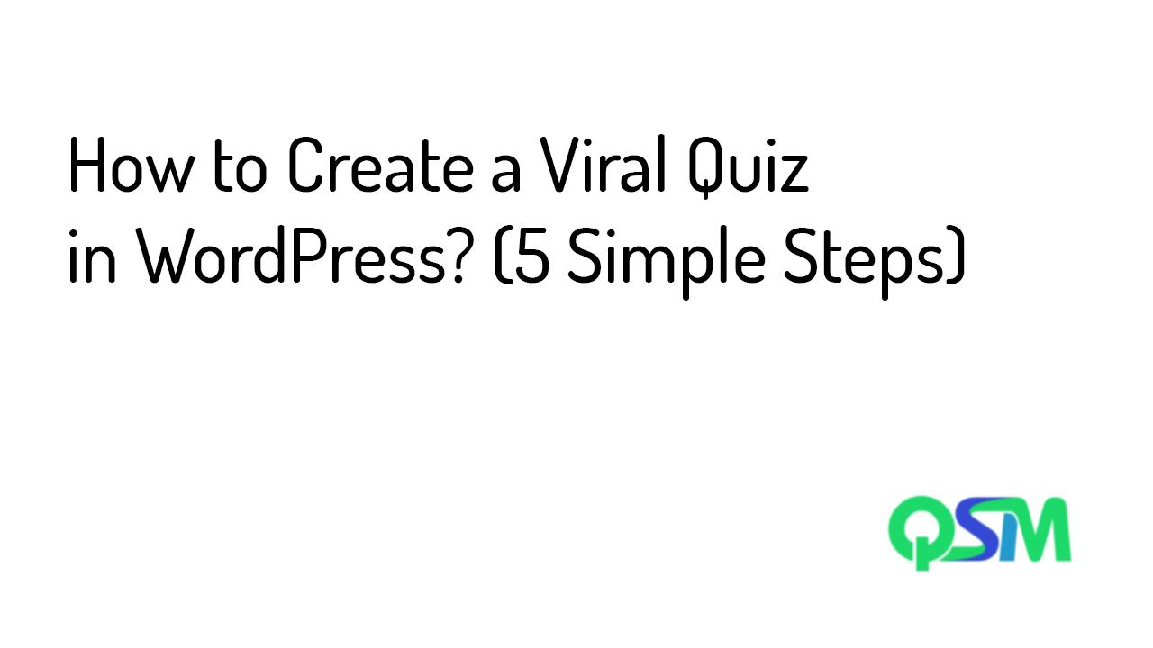 Viral Quiz template