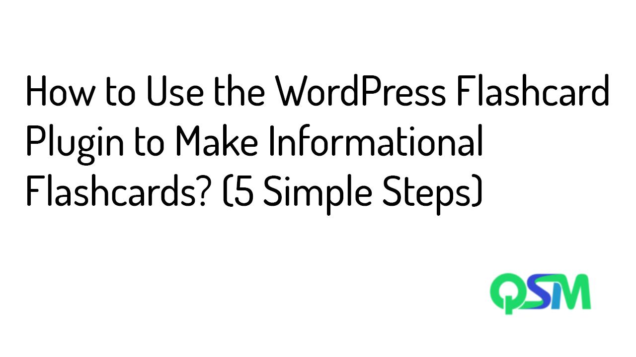 WordPress flashcard plugin