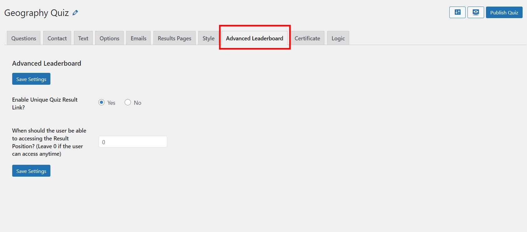 WordPress leaderboard plugin - advanced leaderboards