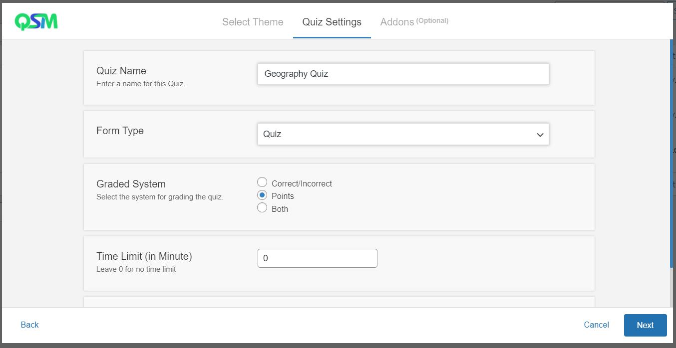 WordPress leaderboard plugin -Create a new form