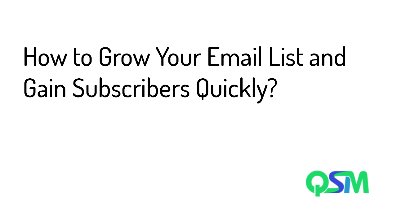 Grow Your Email List - Template
