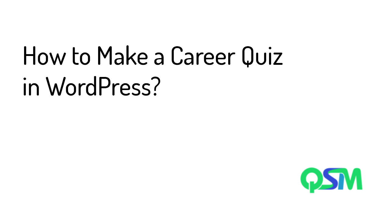 How to Make a Career Quiz in WordPress- template