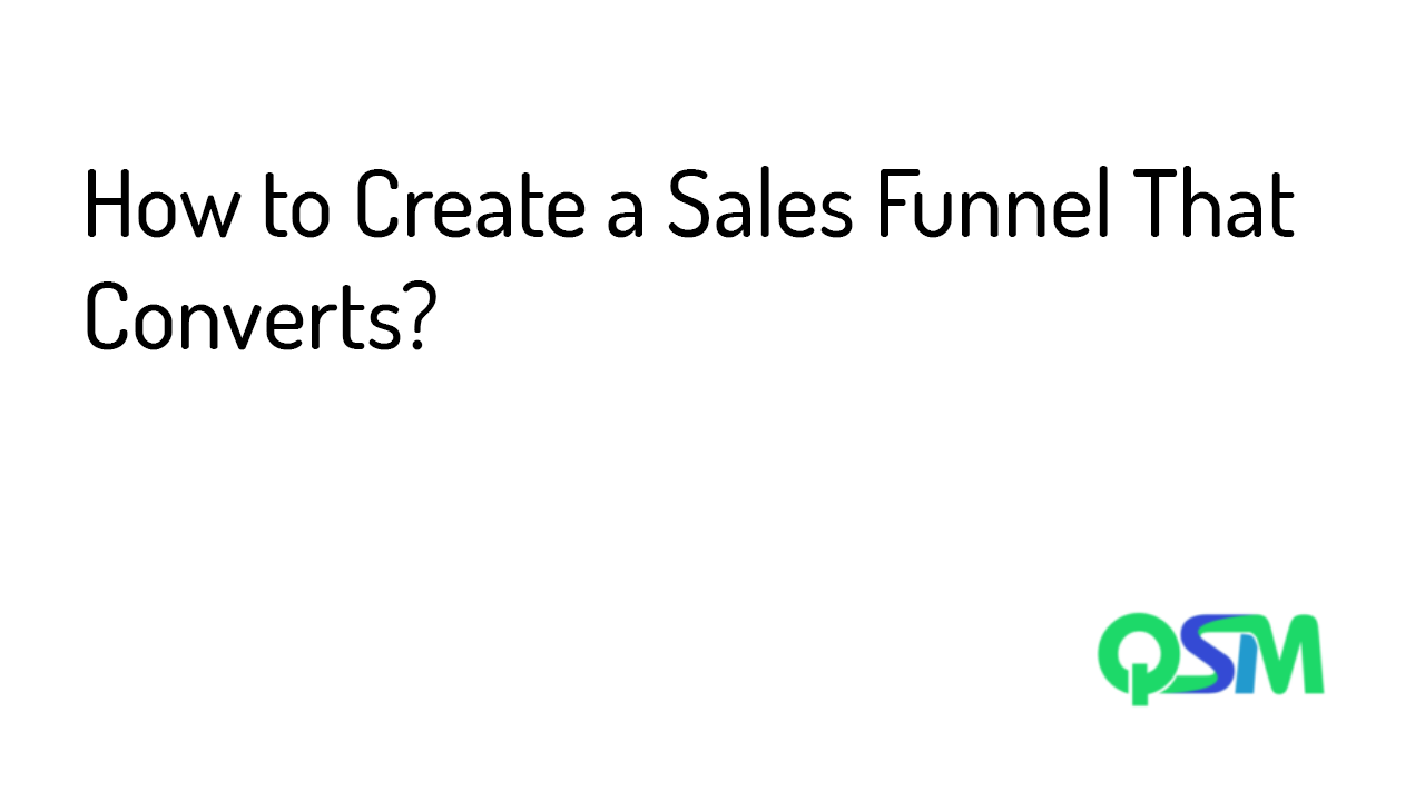How to Create a Sales Funnel That Converts- template