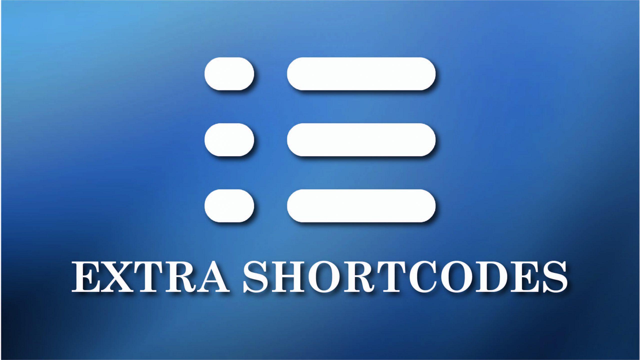 Extra shortcodes