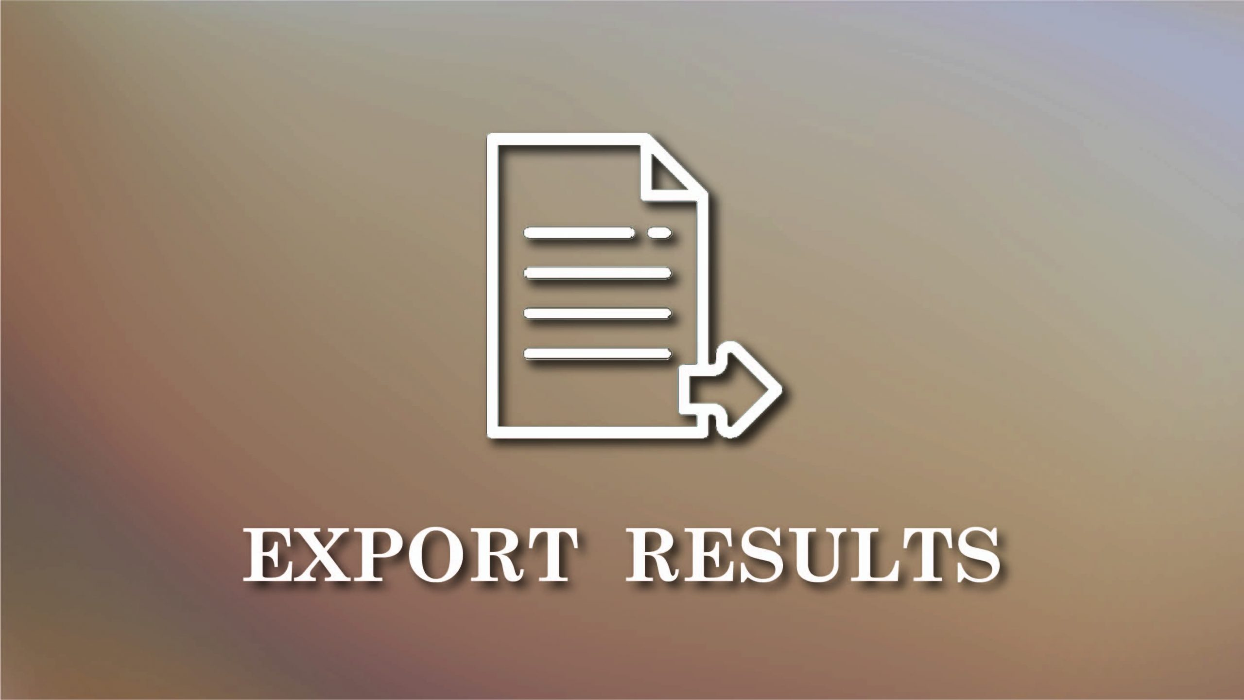 Export results