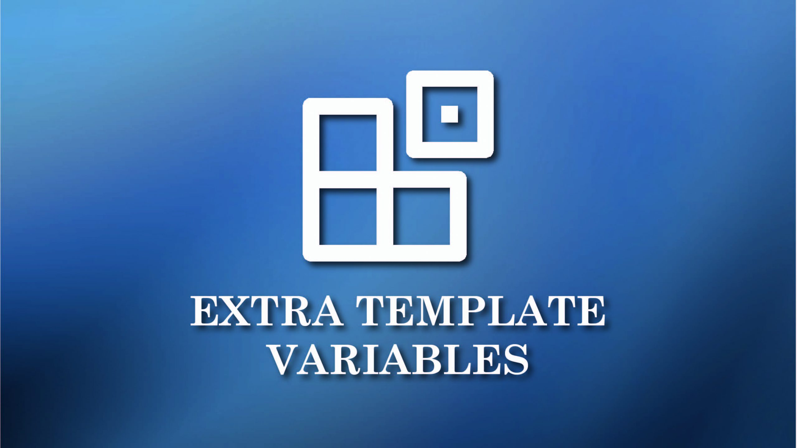 Extra template variable